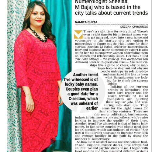 Sheelaa M Bajaj Featured in Deccan Chronicle