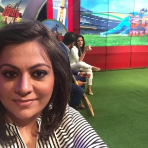 Sheelaa M Bajaj on Aajtak live T 20 cricket-11