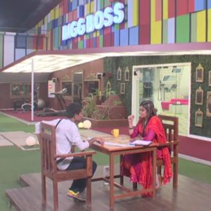 sheelaa with pratham in biggboss show